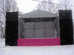 Сценическая конструкция 6х4 м с порталами 2х2 м