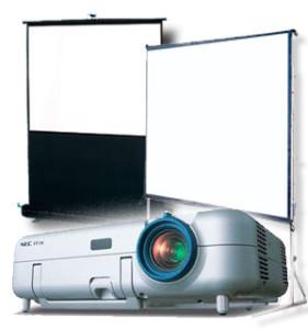 Экраны и проекторы различных размеров и мощностей