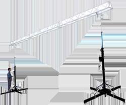 Ферма на подъемниках (элеваторах) для подвеса звука, света экранов и декораций